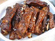 Costela ao molho Barbecue (Ribs on the Barbie) Homemade Barbecue Sauce, Sauce Barbecue, Barbecue Ribs, Corned Beef Recipes, Grilling Recipes, Pork Recipes, Cooking Recipes, Keto Recipes, Ham Dishes