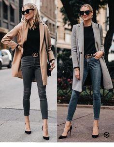 Casual Womens work Fashion and Outfit ideas. Casual Womens work Fashion and Outfit ideas. Winter Fashion Outfits, Grey Fashion, Fall Outfits, Autumn Fashion, Casual Outfits, Cute Outfits, Women's Fashion, Feminine Fashion, Fashion 2020