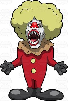 A Creepy Fat And Tall Clown | Products, Cartoon and Clowns