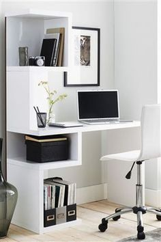 Perfect Mini Office Design Ideas For Your Home - Today, it's the unusual home that does not have some sort of home office. It may be a corner in the kitchen or den or an entire room but everyo Home Office Space, Home Office Desks, Office Decor, Small Office, Mini Office, Home Office Table, Office Ideas, Office Setup, Office Designs