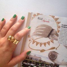 The Pizza Necklace en el número de junio de la revista @elle_spain , especial Gourmet! ❤️☺️