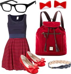 """""""Cute Nerd Schoolgirl Outfit"""" by marissa-anne-weddle on Polyvore"""