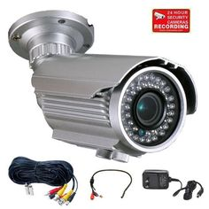 VideoSecu 700TVL OSD Menu Built-in 1/3'' SONY Effio Color CCD Security Camera Day Night Vision Outdoor High Resolution 4-9mm Varifocal Lens 42 IR Infrared LEDs for CCTV DVR Home Surveillance System with Mini Microphone, Extension Cable and Power Supply WG6 by VideoSecu. $128.09. VideoSecu supplies a broad variety of high-quality, well-designed and easy-installed security cameras at affordable prices. The professional security camera is one of the most advanced and f...