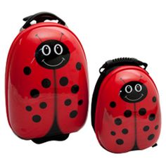 Found it at Wayfair - Lola 2 Piece LadyBug Luggage Set in Red