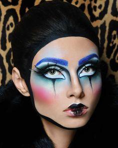 Photographer: Sandra Sobolewska Hair: IF STUDIO Makeup: Anna Methea - Methea wizaż Model: Alesya Nosenko Drag Makeup, Clown Makeup, Fx Makeup, Costume Makeup, Makeup Inspo, Makeup Inspiration, Halloween Makeup, Carnival Makeup, Lady Gaga Makeup