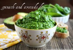 Spinach and Avocado Dip...raw, vegan, gluten-free, dairy-free and paleo-friendly!