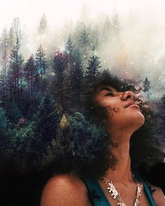 """Pierre Jean-Louis says he sees Mother Nature in black women. He translates this by turning black women's natural hair into breathtaking natural and celestial scenes in his series """"Black Girl Magic."""""""