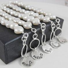 Fresh - pearl bridesmaid bracelets - for granny?