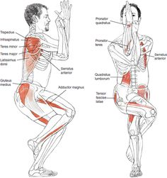 Garuarasana - Eagle Pose  Strengthens and stretches the ankle and calf  Extend the thighs, hips, shoulders, and upper back -  Improves concentration  Improves sense of balance Great for increasing your sex drive !!!  Yoga - Inspirations :: http://celfit.manifo.com/