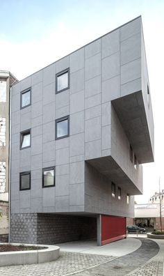EQUITONE facade panels. Housing in Molenbeek, Brussels. www.equitone.com