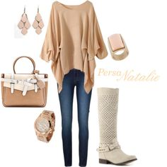 """""""Nude/cream~Fall"""" by natalie-buscemi-hindman on Polyvore"""