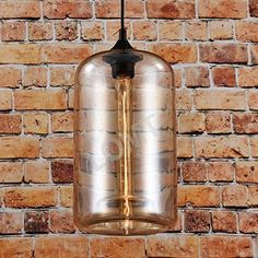 Light Amber Cylinder Hanging Ceiling Lamp Patented Mounting Kit Office Kitchen