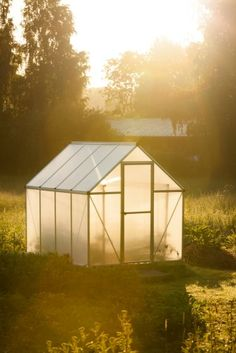 DIY Bamboo Greenhouse - how to make a frugal greenhouse using bamboo and plastic sheeting.