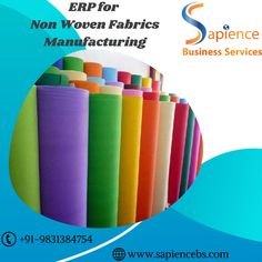 Sapience ERP for Fabrics Manufacturers helps utilize the raw materials, reprocess materials and manages the selling of finished goods in a smooth manner. We are having experience of over 5 years in the non woven fabrics manufacturing industry with numerous successful implementations. call +91-9831384754 or visit www.sapiencebs.com #fabricsmanufacturingerp #erpforfabricsmanufacturers #fabricsmanufacturingerpinkolkata #nonwovenfabricsmanufacturingerp #erpfornonwovenfabricsmanufacturing