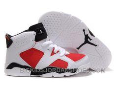 brand new e83ab 899c0 New Kid Air Jordan 6 White Coral Rose-Black