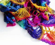 Rainbow shawl, wrap,shawl wrap, knit shawl, colorful shawl
