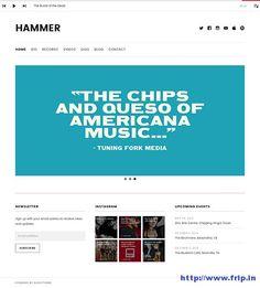 Hammer Minimal Modern WordPress Theme By Audio Theme  http://www.frip.in/hammer-music-wordpress-theme/