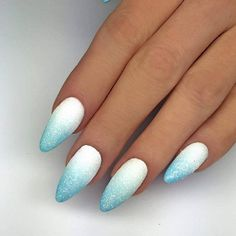 Simple Acrylic Nails, Best Acrylic Nails, Acrylic Nail Designs, Pink Ombre Nails, Blue Nails, Cute Spring Nails, Nails Now, Vernis Semi Permanent, Indigo Nails