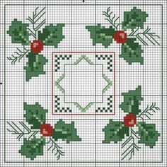 Christmas biscornu pattern by Jadedgold1