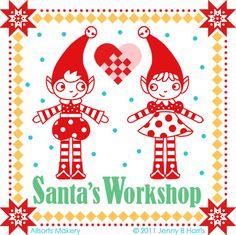 Santas workshop, Silhouette and Workshop on Pinterest