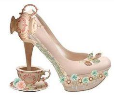 """Wonderland"" Premade shoe by .Silver.Doe. - Polyvore"