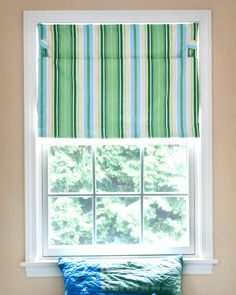 This isn't a DIY, but you could figure it out--shades without cords for kids' rooms.