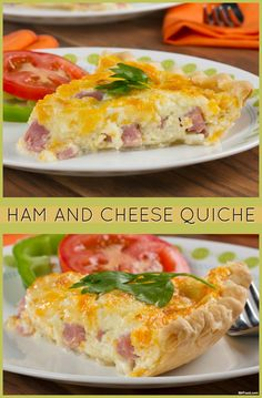 Serving quiche at Easter brunch? Then this Ham and Cheese Quiche is exactly what you need.