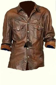 Made of high quality, soft and comfortable lambskin leather with hot and stylish look. This is a TOP QUALITY Hand Made leather shirt. This Shirt is Made of TOP QUALITY Pure Sheep Very Smooth and HOT Leather. Mens Leather Shirt, Leather Jacket, Casual Button Down Shirts, Casual Shirts, Uniform Shirts, Western Shirts, Lambskin Leather, Shirt Jacket, Real Leather