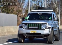 Lifted Jeep Liberty with Rims | ... Jeep Liberty Aggressive 1 Outside Fender Suspension Lift 4 Custom Rims