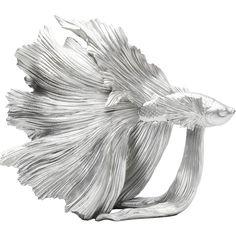 Dekorácia ryba strieborná farba. Decorative Objects, Decorative Accessories, Fisher, Siamese Fighting Fish, Kare Design, Betta Fish, Cool Gadgets, Silver Color, Art