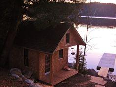 Beautiful Cedar Bunkhouse / Cabin Idea / Guest House / Cottage Bunkie Idea by Thunder Beach Wood Works.