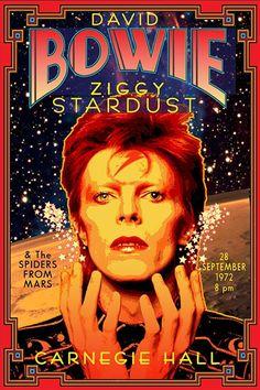 David Bowie - Carnegie Hall 1972 - Mini Print