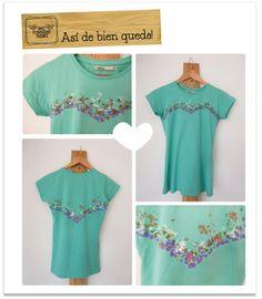 Excelente idea para darle vida a una simple camiseta con unos creyones (crayolas) Es super facil.. me encantó!!