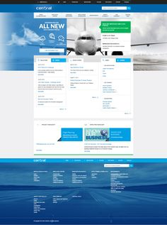NAV CANADA's delightful intranet is based on SharePoint 2013.  Above is the homepage. The head-on image of an airplane provides a strong visual related to the core business.