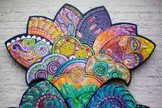 Unfurled, a collaborative glass mosaic created by over fifty professional mosaic artists, coordinated by Pam Goode