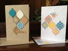 SU Sneak Peek for 2013 catalog-love the quatrefoil, embossing folder, punch and stamp set to match!