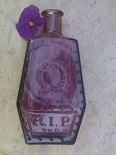 Vintage Wheaton R.I.P. Coffin Shaped Bottle