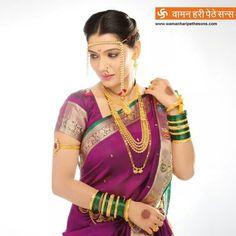 Waman Hare Pethe Marathi Bride, Marathi Wedding, Saree Wedding, Marathi Nath, Indian Bride And Groom, South Indian Bride, Indian Bridal, Nauvari Saree, Marriage Dress
