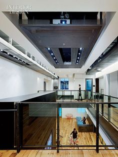 Pacific Rim: Corporate Meets Cool at an LA Ad Agency. Shubin + Donaldson Architects built out the main building at Innocean Worldwide, an advertising agency in Huntington Beach, California, to include a mezzanine. Corporate Office Design, Corporate Interiors, Office Interiors, Agency Office, Beach Office, Office Images, Public, Railing Design, Pacific Rim