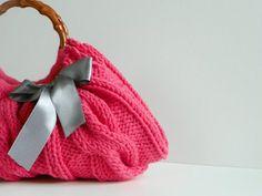 Watermelon Color Knit Bag