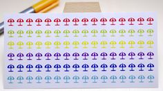 StickersSwissMade@Etsy - small stickers for every planner or bullet journal which is out there!  PLANNER STICKER || sunshade || garden || small rainbow colored | for your planner or bullet journal #garden #JournalSticker #LifeplannerSticker #journaling #StickerSheet #FilofaxSticker #PersonalPlanner #PlannerSticker #BulletJournal #BujoSticker https://www.etsy.com/shop/StickersSwissMade?utm_source=outfy&utm_medium=api&utm_campaign=api
