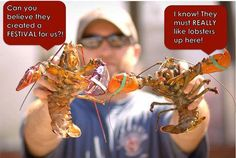 I worked the food line and served up many many lobster dinners at this festival in the 1970's.  Fun!