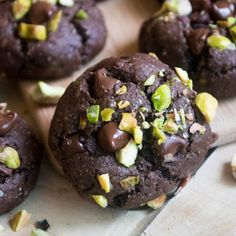 Double Chocolate Chunk Pistachio Cookies - A chocolate lovers dream cookie! Slightly crisp on the outside and soft on the inside.