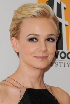 Need to learn how to do this with my hair! Carey Mulligan Formal Comb Back Pixie Cut 2013 - 2014