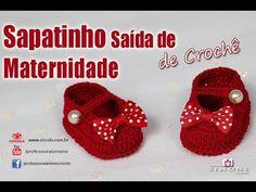 Sapatinhos Para Bebê - Life Baby: Sapatinho de crochê Saida de Maternidade - Passo a passo - Professora Simone