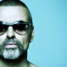 """357d213cbe George Michael is wearing a pair of """"Bel Air"""" sunglasses by theo."""