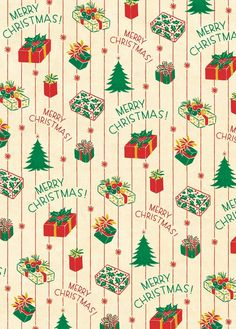 With red, green and yellow presents and holiday messages over a white background, this wrapping paper is perfect for saying Merry Christmas on presents or other creative endeavors. Printed on Cavallini's archival Italian paper. By Cavallini & Co. Christmas Present Wrap, Merry Christmas, Christmas Paper, Christmas Presents, Christmas Journal, Vintage Christmas Wrapping Paper, Vintage Christmas Images, Christmas Gift Wrapping, Christmas Phone Wallpaper