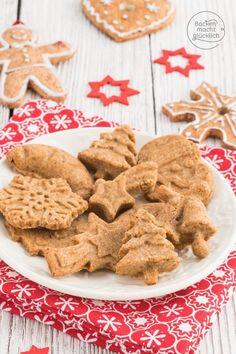 Kekse aus nur 3 Zutaten - super leckeres und leichtes Rezept für vollwertige und gesunde Weihnachtsplätzchen. Die Plätzchen sind ideal für Kleinkinder.