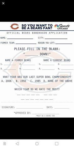 Chicago Bears Room, Chicago Blackhawks, Chicago Cubs, Bears Football, Football Baby, Chicago Bears Pictures, Dilema, Football Quotes, Bears