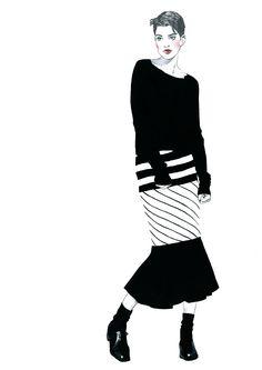 Fashion illustration. Part 11. on Behance
